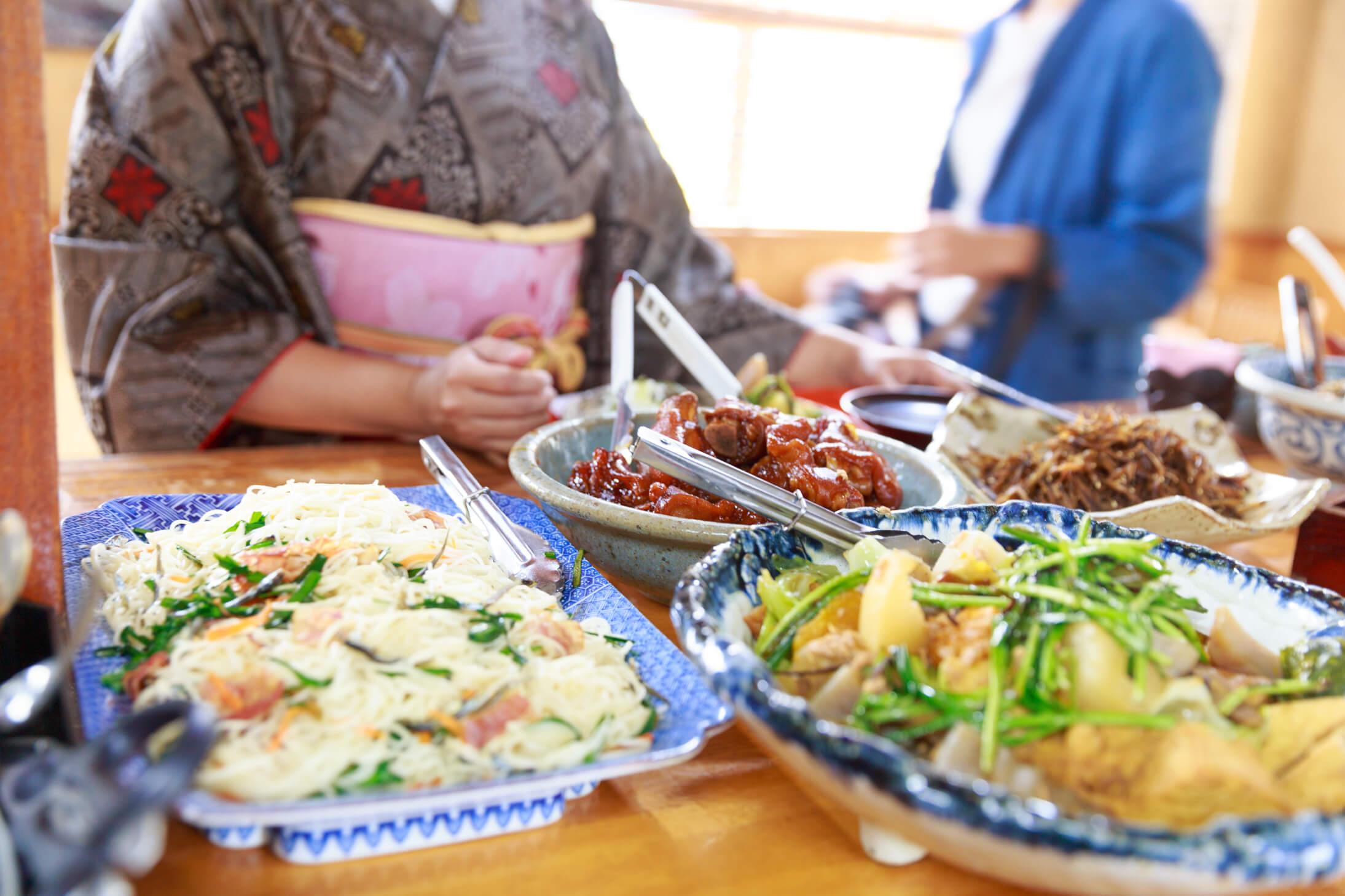 大島紬 島料理
